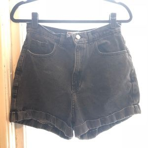 Gray Denim High Waisted Shorts American Apparel